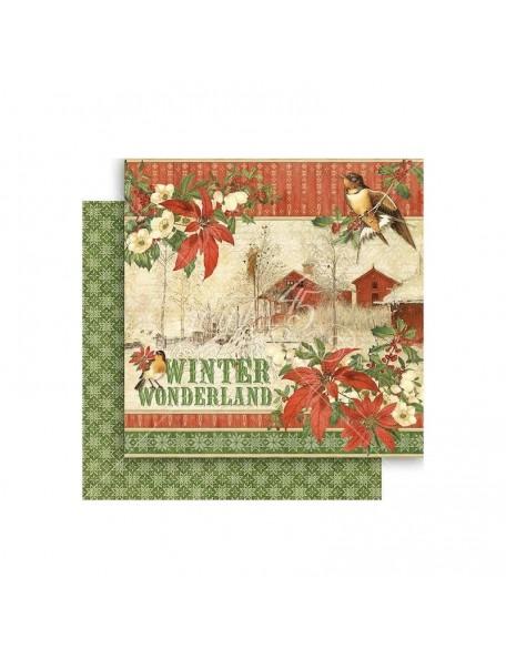 "Graphic 45 Winter Wonderland Cardstock de doble cara 12""X12"", Winter Wonderland"