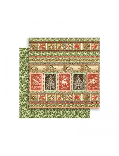 "Graphic 45 Winter Wonderland Cardstock de doble cara 12""X12"", Nordic Greetings"