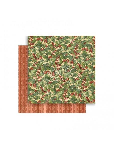 "Graphic 45 Winter Wonderland Cardstock de doble cara 12""X12"", Holly Berries"