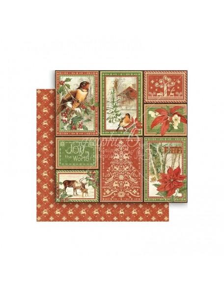 "Graphic 45 Winter Wonderland Cardstock de doble cara 12""X12"", Rustic Holiday"