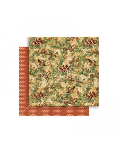 "Graphic 45 Winter Wonderland Cardstock de doble cara 12""X12"", Woodland Whimsy"