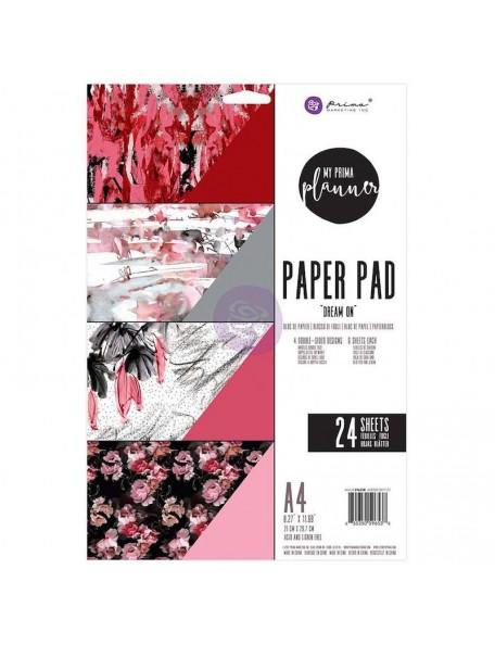 Prima Marketing My Prima Planner A4 Paper Pad 24, Hojas de doble cara, Dream On 4 Diseños/6