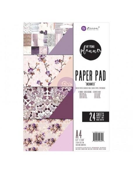 Prima Marketing My Prima Planner A4 Paper Pad 24, Hojas de doble cara, Enchanted 4 Diseños/6