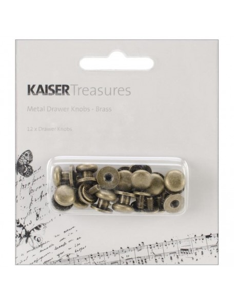 "Kaisercraft Treasures Metal Drawer Knobs .375"" 12, Antique Brass"