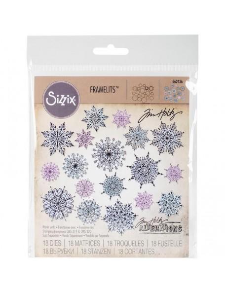 Tim Holtz Sizzix Framelits Troquel 18, Swirly Snowflakes