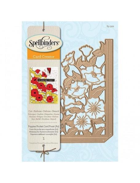Spellbinders Card Creator Die, Poppies Pocket Card (A2)