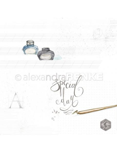Papel Tarjeta de viaje Dia Especial/ Special day mit Muster - Alexandra Renke