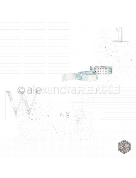Alexandra Renke Cardstock de una cara 30,5x30,5 cm, Washitape/Washitape mit Muster