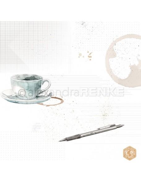 Alexandra Renke Cardstock de una cara 30,5x30,5 cm, Taza de Café/Kaffetasse mit Muster