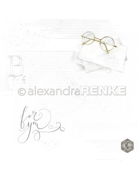 Alexandra Renke Cardstock de una cara 30,5x30,5 cm, Gafas/Brille mit Muster