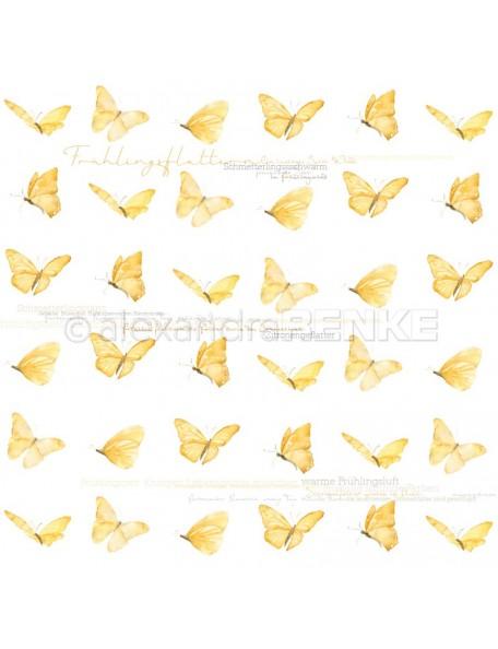 Alexandra Renke Cardstock de una cara 30,5x30,5 cm, Mariposas/Schmetterlinge