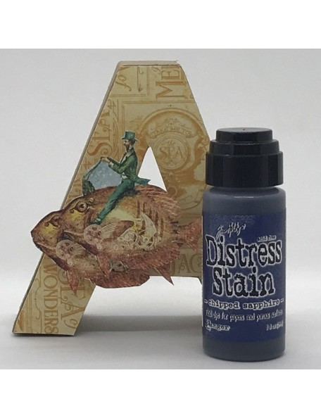 Tim Holtz Distress Stain, Chipped Sapphire 1oz