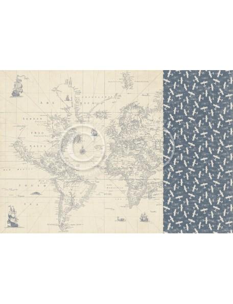 "Pion Design The World Awaits Cardstock de doble cara 12""x12"", Discover the world"