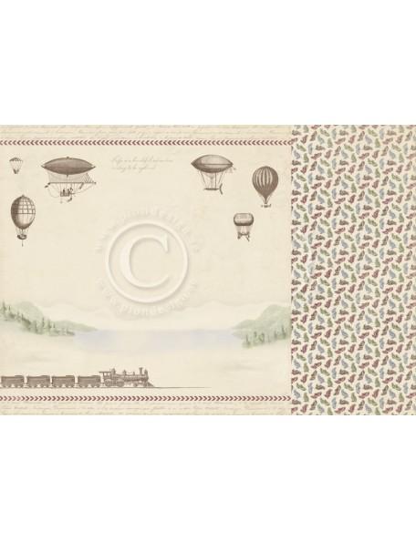 "Pion Design The World Awaits Cardstock de doble cara 12""x12"", Wanderlust"