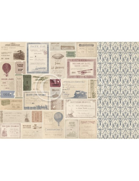 "Pion Design The World Awaits Cardstock de doble cara 12""x12"", Vacation memories"
