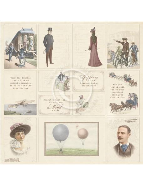 "Pion Design The World Awaits Cardstock de doble cara 12""x12"", The World Awaits"