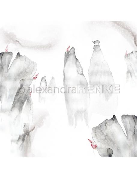 Alexandra Renke Cardstock de una cara 30,5x30,5 cm, Gnomos en las Montañas/Wichtel am Felsen