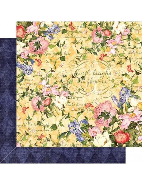 "Graphic 45 Floral Shoppe Cardstock de doble cara 12""X12"", Sunlit Medley"