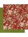 "Graphic 45 Floral Shoppe Cardstock de doble cara 12""X12"", Burgundy Blossoms"