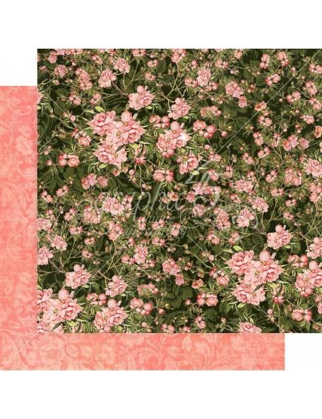 """Graphic 45 Floral Shoppe Cardstock de doble cara 12""""X12"""", Verdant Blossoms"""