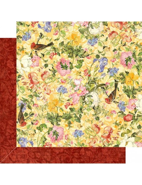 "Graphic 45 Floral Shoppe Double-Sided Cardstock 12""X12"", Golden Serenity"