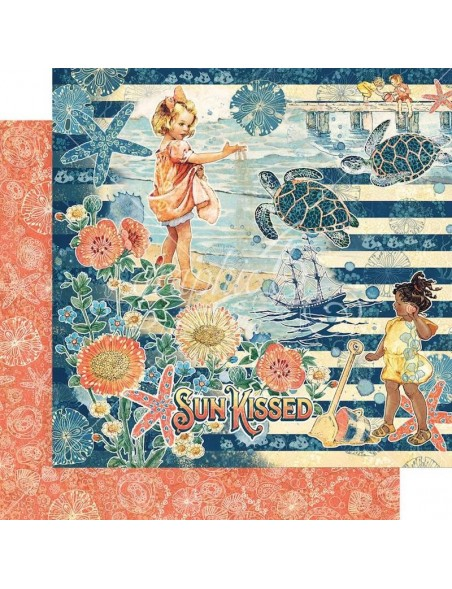 """Graphic 45 Sun Kissed Double-Sided Cardstock 12""""X12"""", Sun Kissed"""