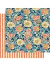 "Graphic 45 Sun Kissed Cardstock de doble cara 12""X12"", Floating Floral"