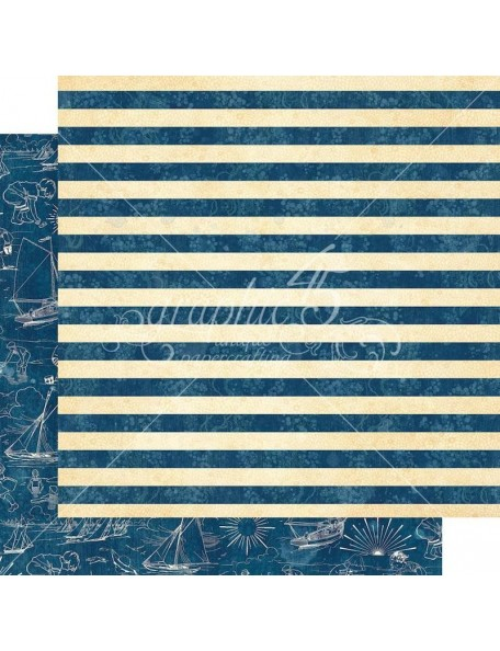 """Graphic 45 Sun Kissed Double-Sided Cardstock 12""""X12"""", Sail Away"""