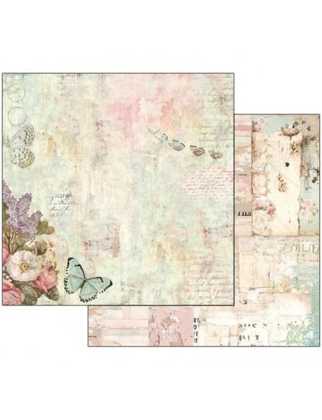 "Stamperia Wonderland Cardstock de doble cara 12""X12"", Flowers & Butterflies"