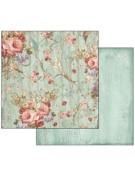 "Stamperia flower Cardstock de doble cara 12""X12"", Liberty Flowers sbb500"