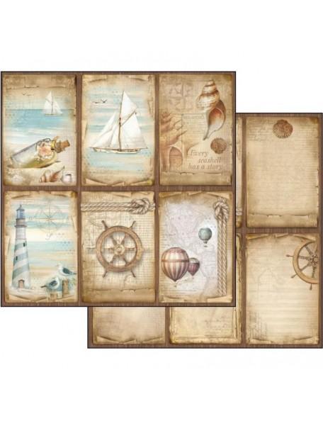 "Stamperia Sea Land Cardstock de doble cara 12""X12"", Cards"