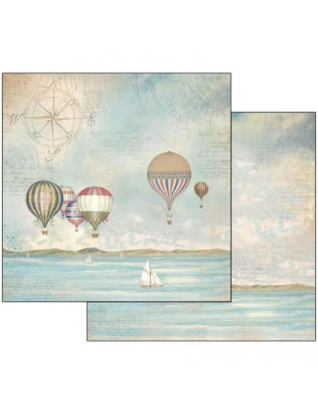 "Stamperia Double-Sided Cardstock 12""X12"", Sea Land Balloons"