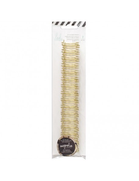 "Heidi Swapp Journal Notebook Cinch Binding Wire.75"" 2 Gold"