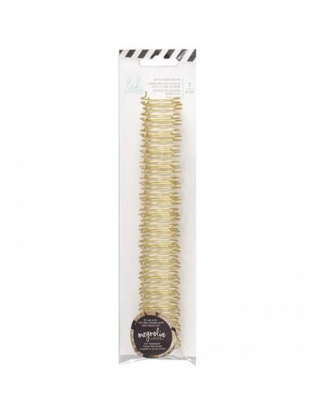 "Heidi Swapp Journal Notebook Cinch Binding Wire.75"" 2/Gold"