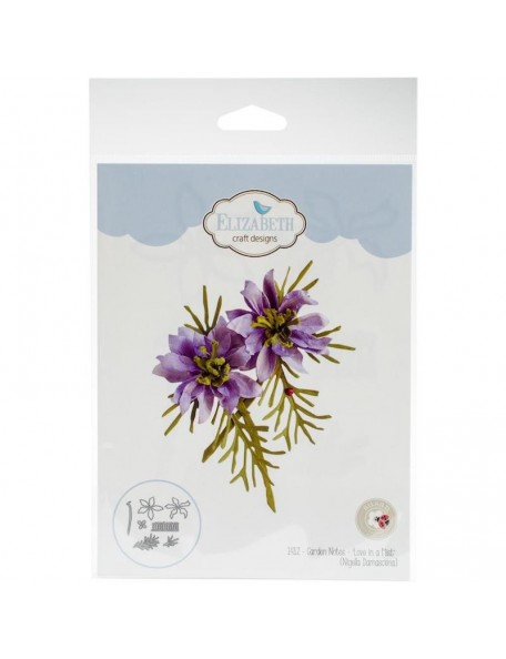 Elizabeth Craft Troquel de Susan's Garden Club, Garden Notes, Tuberous Begonia
