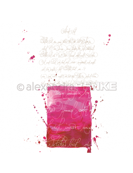 Alexandra Renke Cardstock de una cara 30,5x30,5, Caligrafía rosa/Kalligraphie pink