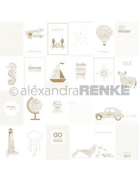 Alexandra Renke Cardstock de una cara 30,5x30,5, Tarjeta Hilo-Lana/Kärtchenbogen Wolle Garn