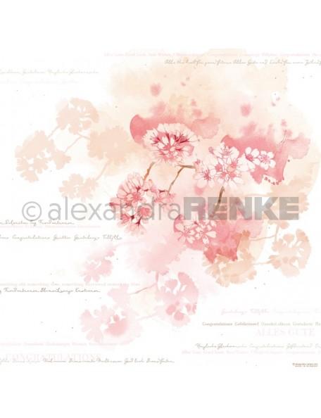 Alexandra Renke Cardstock de una cara 30,5x30,5, Flor de Cerezo/Kirschblüten