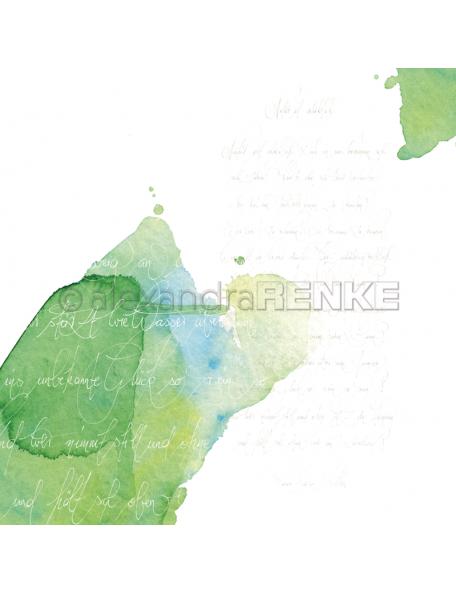 Alexandra Renke Cardstock de una cara 30,5x30,5, Caligrafía Verde/Kalligraphie grün