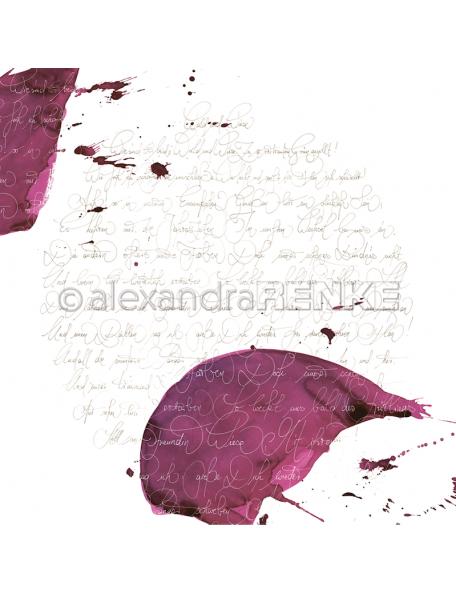 Alexandra Renke Cardstock de una cara 30,5x30,5, Caligrafía Berenjena/Kalligraphie aubergine