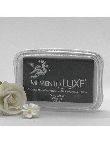 Memento Luxe Ink Pad, Olive Grove
