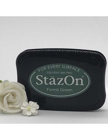 StazOn Solvent Ink Pad, Forest Green