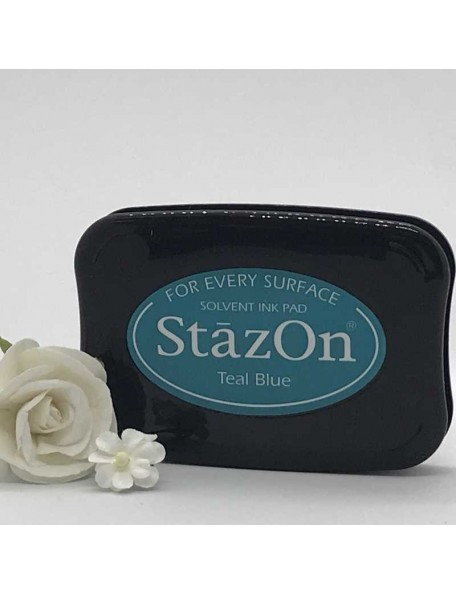 StazOn Solvent Ink Pad, Teal Blue