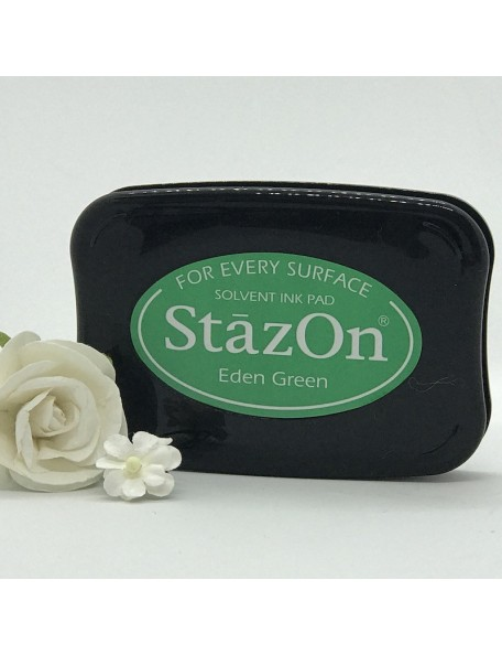 StazOn Solvent Ink Pad, Eden Green