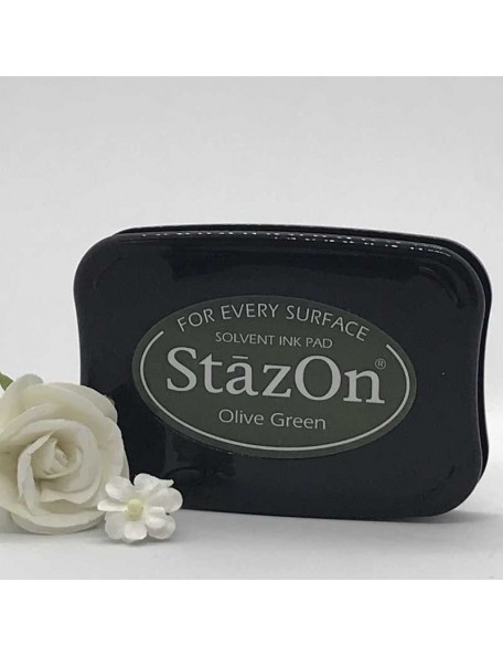 StazOn Solvent Ink Pad, Olive Green