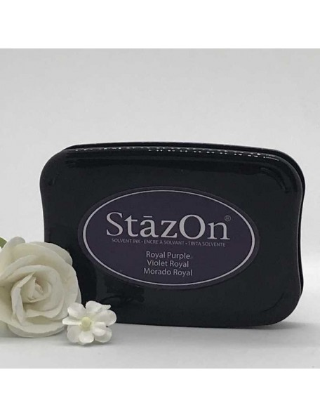 StazOn Solvent Ink Pad, Royal Purple