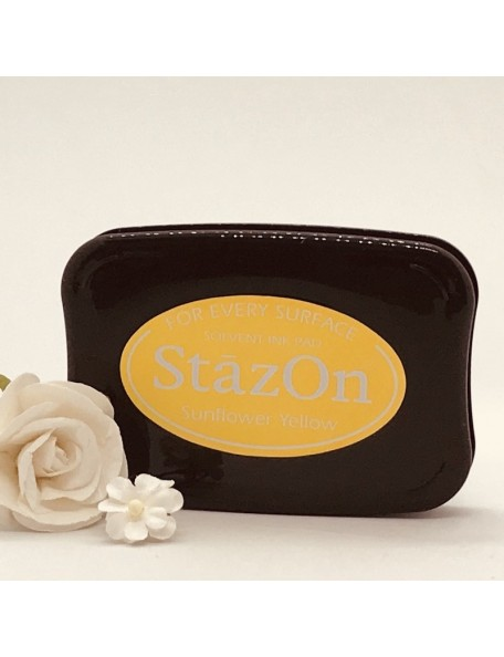 StazOn Solvent Ink Pad, Sunflower Yellow