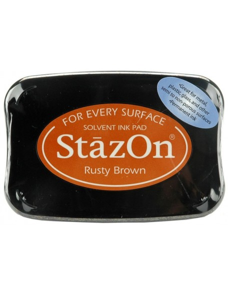 StazOn Solvent Ink Pad, Rusty Brown