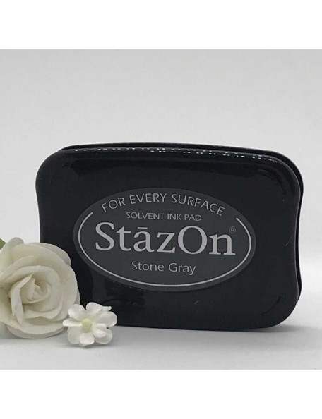 StazOn Solvent Ink Pad, Stone Gray