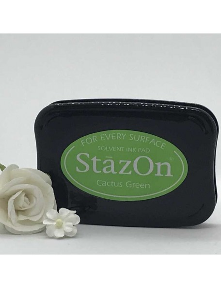 StazOn Solvent Ink Pad, Cactus Green
